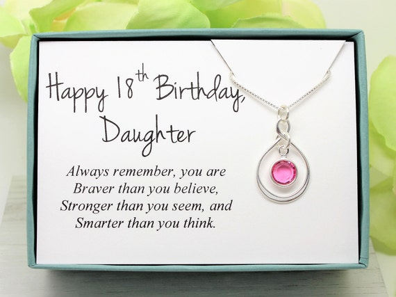 18th Birthday Gift For Daughter 925 Sterling Silver Swarovski