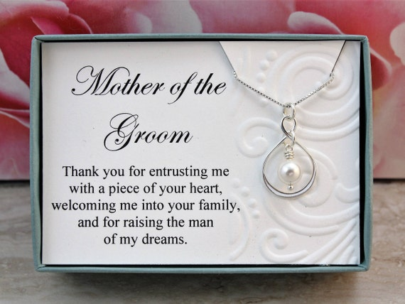 Mother Of The Groom Gift: Mother Of The Groom Necklace Gift From Bride Sterling