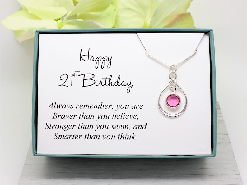 21st Birthday Gift For Girl 925 Sterling Silver Swarovski