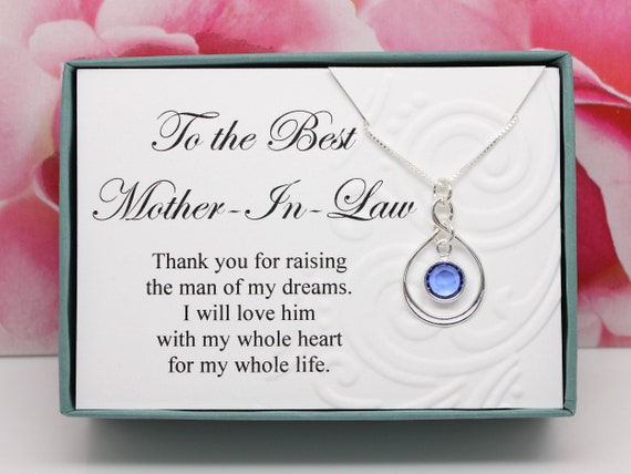 Mother In Law Birthday Gift 925 Sterling Silver Select A