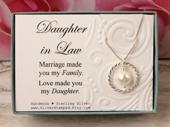 Daughter Son In Law Personalized Poem Christmas Gift: Daughter In Law Gift From Mother In Law Sterling Silver