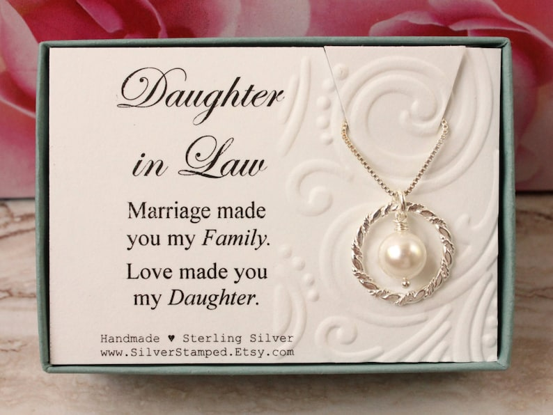 Daughter In Law Gift From Mother Sterling Silver