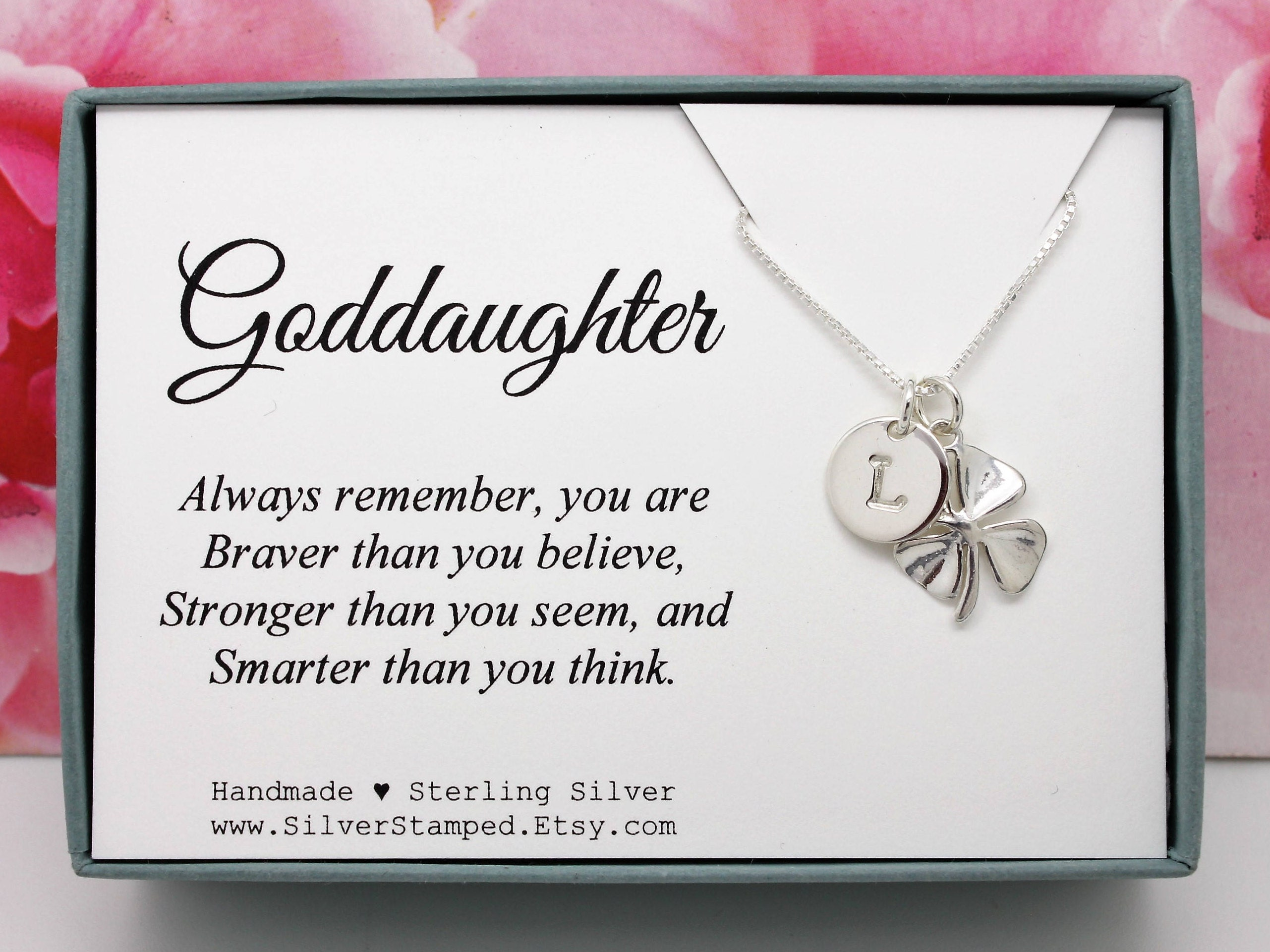 Gift For Goddaughter Birthstone Necklace Sterling By: Goddaughter Gift For God Daughter Necklace Sterling Silver