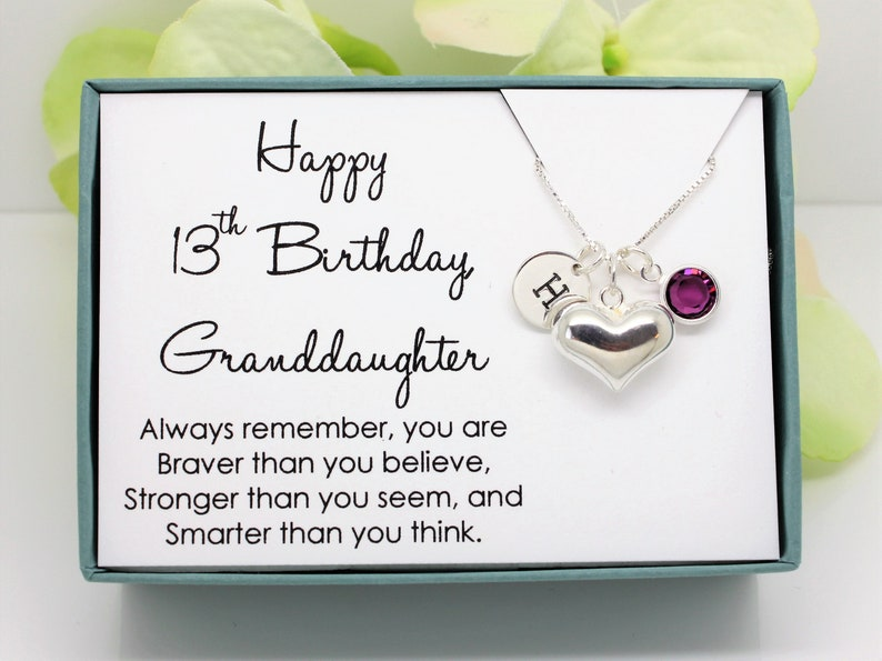 13th Birthday Gift For Granddaughter From Grandparents 925