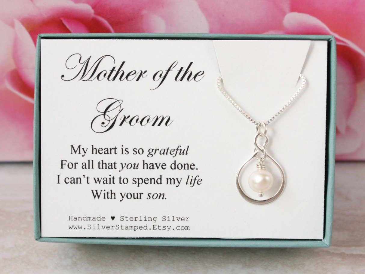 Mother Of The Groom Gift: Gift For Mother Of The Groom Thank You Gift Silver