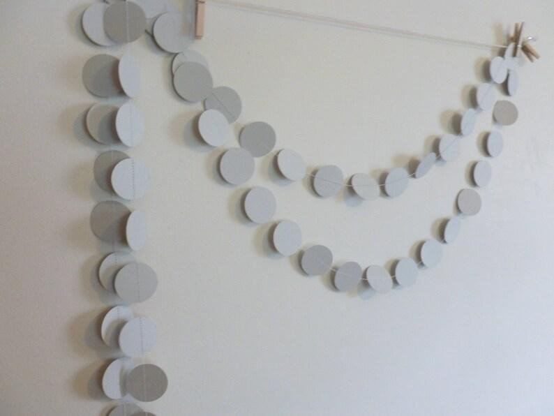 Circle Bunting Home and Party Decor String of Circles Geometrics Light Gray Circles Paper Garland