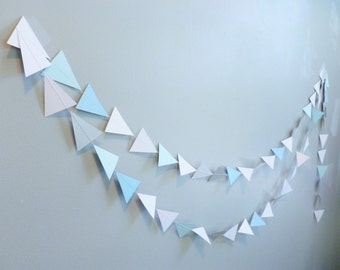 Blue Silver White Geometric Christmas and Holiday Decor | Geometric Christmas | Tribal Christmas
