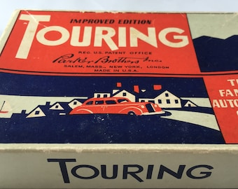 Parker Brothers Famous Vintage Automobile Card Game, Touring, The Improved Edition 1955