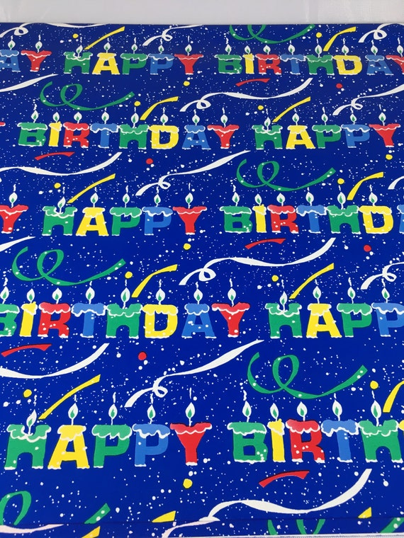 Happy Birthday Gift Wrap Candle Wrapping Paper