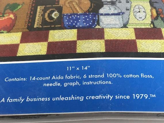 11 by 14-Inch Janlynn 14 Count Kitchen Still Life Cross Stitch Kit