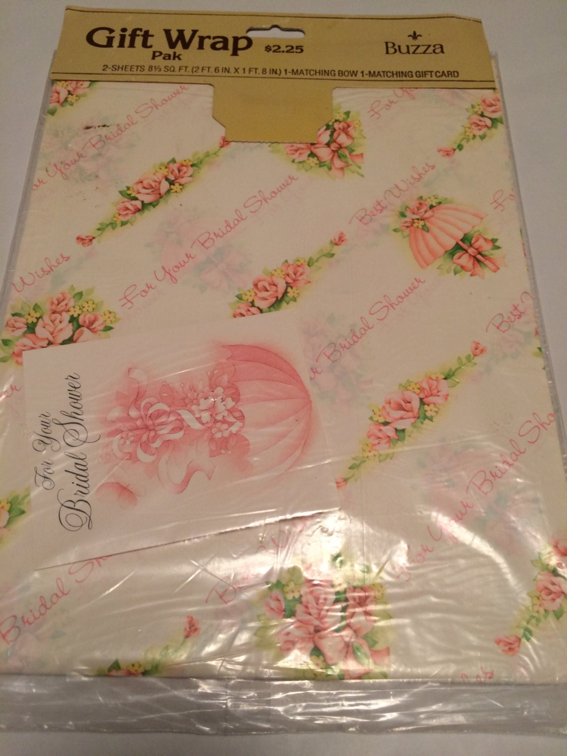 Vintage For Your Bridal Shower Gift Wrap White Wrapping Etsy