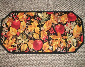 """Sale! Assorted Patterns and Sizes Table Runner Centerpiece Place Mat Topper 25"""" Harvest Leaves Apples Acorns Kitchen Dining Decor Fall"""