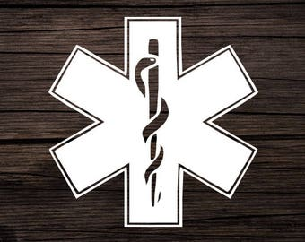 EMT Decal | Emergency Services Decal | EMT Car Decal | EMT Tumbler Decal | Paramedic Decal | Star of Life Decal | Star of Life Sticker