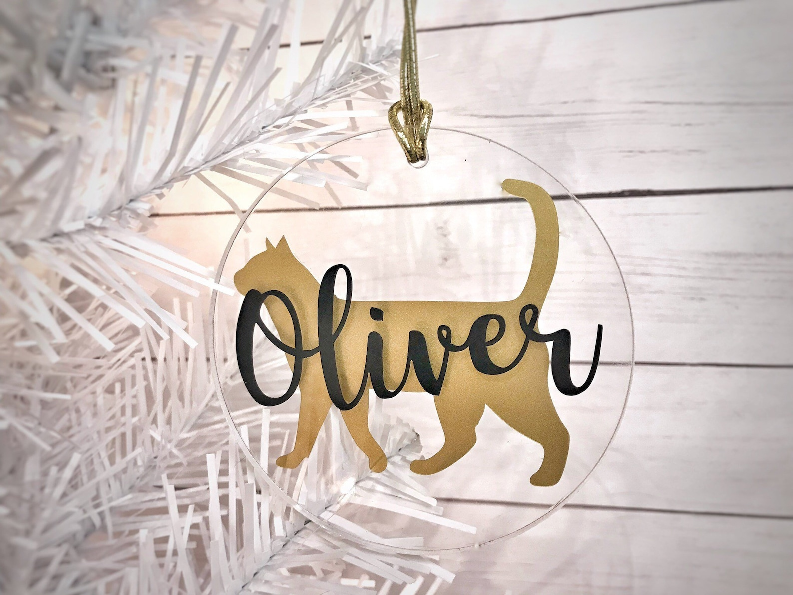 Personalized Cat Silhouette Ornament