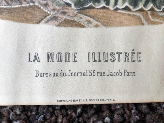 La mode illustree vintage print no. 1008 1939 lithograph etsy