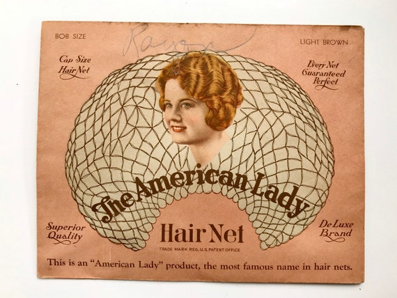 Rare Vintage The American Lady Hair Net, Light Bro