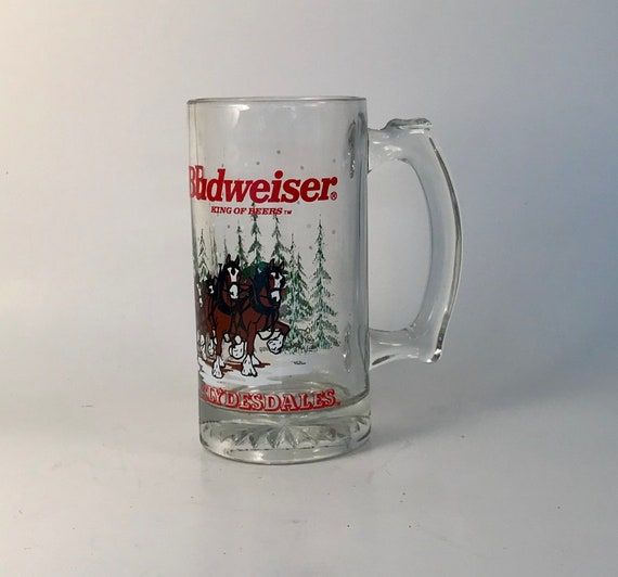 1989  Anheuser Busch  AB  Budweiser Bud Holiday Christmas Beer Stein Clydesdales