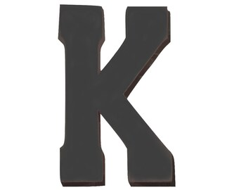 "On Sale! 21"" Letter K Backlit Metal Sign - Plugin or Battery Operated - Rustic Marquee Vintage Style Cutout Light Up"