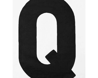 "On Sale! 21"" Letter Q Backlit Metal Sign - Plugin or Battery Operated - Rustic Marquee Vintage Style Cutout Light Up"
