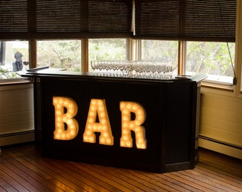 ON SALE! Plug-In. BAR Metal Vintage Rustic Style Marquee Light Up Sign Letters Beer Martini Cocktails Pub Drink Tavern Lounge Drink Shots