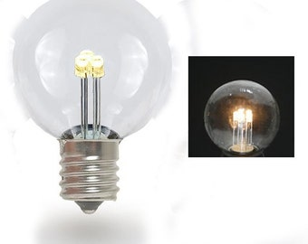 LED Glass Spare Light Bulb for Plugin Signs G30 E12 Socket Base Bulbs