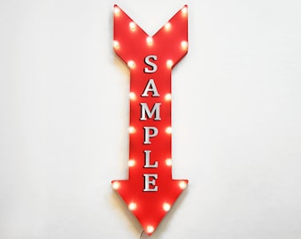 """On Sale! 36"""" DONUTS Metal Arrow Sign - Plugin or Battery Operated Led - Bakery Pastry Breakfast Coffee Yum - Rustic Marquee Light up"""