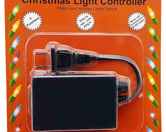 Flashing Light Controller - Blinking Fading Twinkling Christmas Tree Adapter  - 8 light functions.
