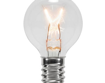 Spare Clear Glass G30 Luminescent Light Bulb - Box of 24 Replacement Bulbs - Clear with Warm Glow!