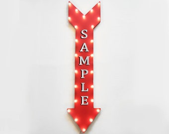 "On Sale! 48"" RESTROOM Metal Sign - Plugin or Battery Operated - Bathroom Mens Ladies Womens - Vintage Rustic Marquee Arrow Light Up"