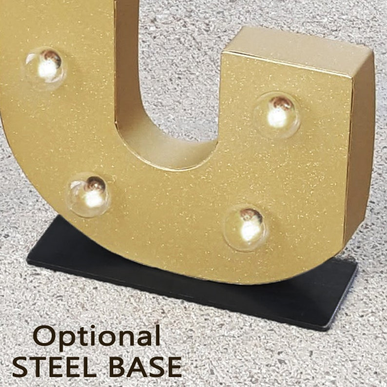 On Sale Solid Steel Base for our 21 Marquee Letters image 0