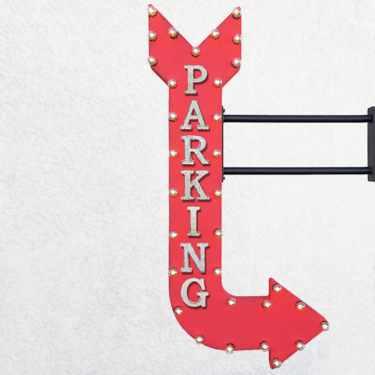 on sale! 48 parking metal arrow sign garage park it pay here car
