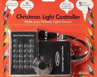 16 FUNCTIONS - Flashing Light Controller - Blinking Fading Multi-Speed Christmas Tree Light Adapter.