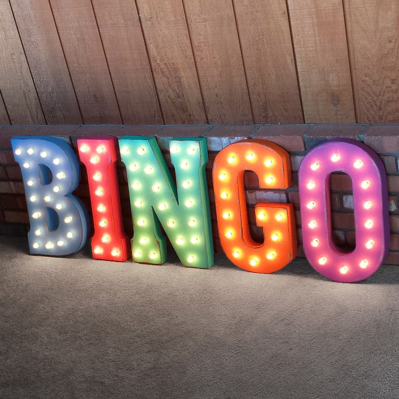 """39/"""" ARCADE Game Room Play Pinball Vintage Rustic Metal Marquee Light Up Sign"""