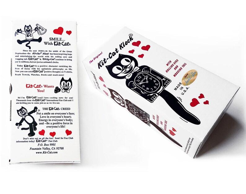 Édition limitée! Noël officiel Kit chat horloge-Messieurs gentleman mâle garçon-parée de cristaux Swarovski Kit Kat Cat horloge Klock