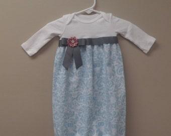e67ed45639b6 Baby girl onesie sack dress