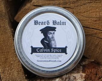 John Calvin Beard Balm Spice Scent Facial Hair Moisturizer