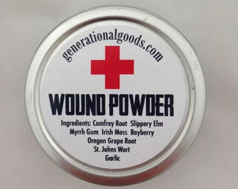 Herbal Wound Powder Natural First Aid for the Family Travel Tin