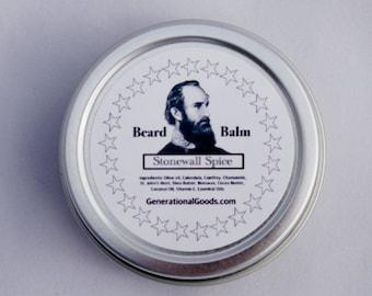 Beard Balm Stonewall Jackson Spice Scent Civil War History Manly Beards Historical Hero Series