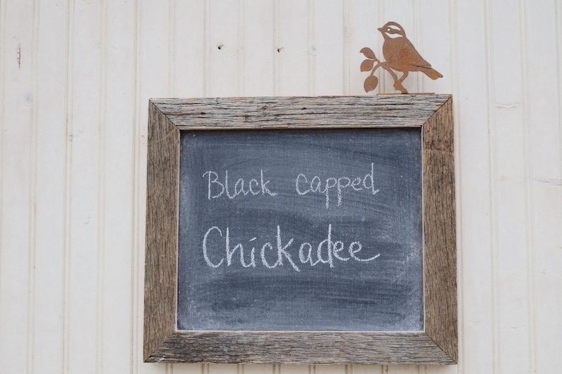 13 x 15 Framed Chalkboard from Century Old Barn wood with Iron image 0