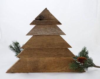 Reclaimed Barn Wood Christmas Tree Handcrafted
