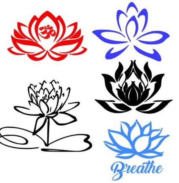 Lotus Yoga Svg Files Studio And Photoshop Compatible Files Etsy