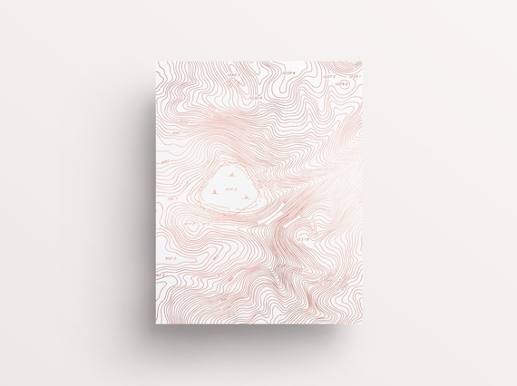 Contour Line Drawing Rose : Rose gold printable art dorm wall etsy