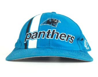 b42985b6e21 Vintage 90s NFL Carolina Panthers Logo Athletic Brand Baseball Vap Hat Adj  Adult Size