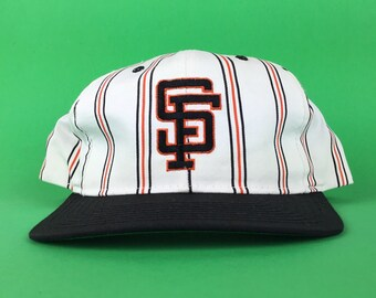 d6107d2ca20 Vintage 90s MLB San Francisco Giants Starter Brand Prinstrips Baseball Cap Hat  SnapBack Adult Size