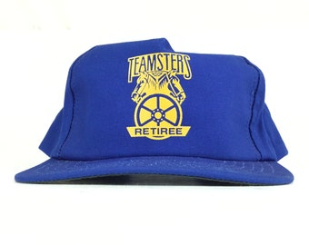 cfc86a5e0367c Vintage 90s Teamsters Retiree Blue Baseball Cap Hat SnapBack Men s Size  Made In USA