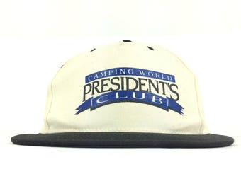 abe25d69a98 90s Camping World Presidents Club Baseball Cap Hat Snapback Small-Medium  Adult Size