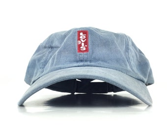 2dfbe358a0da2 Vintage 90s Levi s Baseball Cap Hat Adjustable Adult Size Cotton Levi s  Strauss Co. Brand