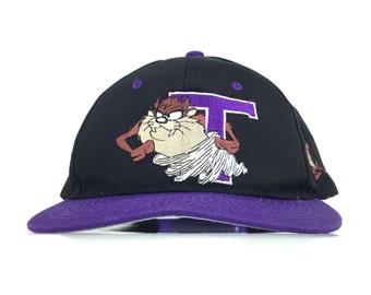 1c96844f7a0 Vintage 90s TAZZ Embroidered Tasmanian Devil Warner Bros Looney Tunes  Baseball Cap Hat SnapBack Adult Size