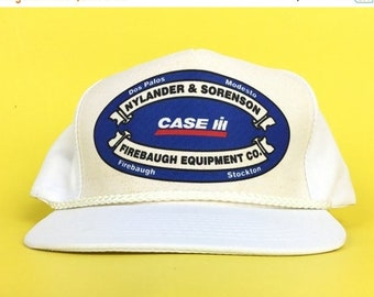 53b5bebd678 On Sale Now Vintage 90s CASE International Harvester IH Firebaugh Equipment  Inc Central California Baseball Cap Hat SnapBack Men s Size