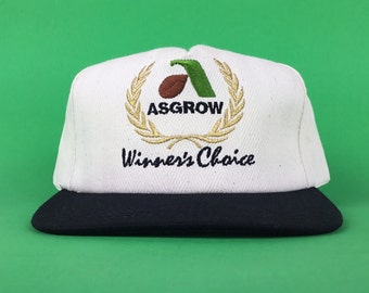a51d5df64f83f Vintage 90s ASGROW Winner s Choice (Monsanto Seed Co.) Embroidered Baseball  Cap Hat SnapBack Men s Size Made In USA K-Products Brand